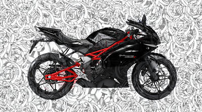 Moto Art S02-01a Art Print by Variance Collections