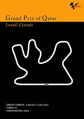 Qatar Photograph - Moto Gp Qatar by Mark Rogan
