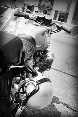 Photograph - Moto Guzzi Helmet by Kelly Hazel