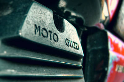 Photograph - Moto Guzzi Motorcycle Engine Closeup by Vlad Baciu