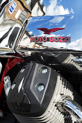 Photograph - Moto Guzzi V7 Racer Abstract by Tim Gainey