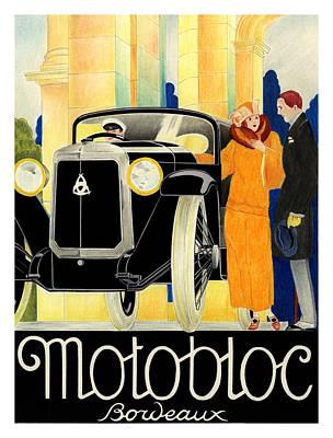 Motobloc Art Print by Lyle Brown