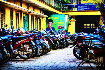 Photograph - Motor Bikes by Rick Bragan