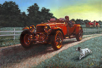 Painting - Motor Car by Richard De Wolfe