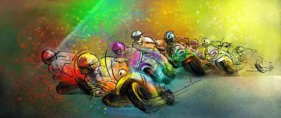 Art Miki Digital Art - Motorbike Racing 02 by Miki De Goodaboom