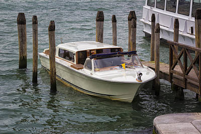Photograph - Motorboat In Venice by Francesco Rizzato
