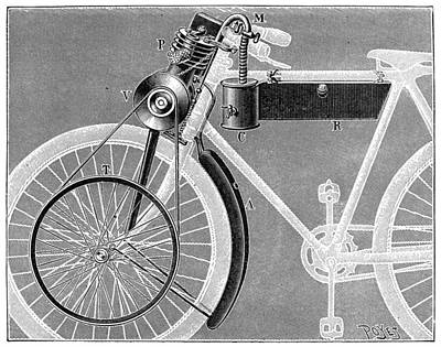 Photograph - Motorcycle, 1898 by Granger