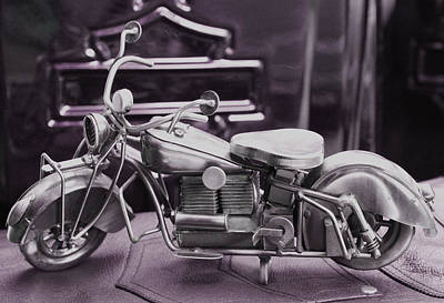 Vintage Photograph - Motorcycle 3 by William Patrick