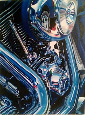 Motorcycle Abstract Art Print by Molly Gossett
