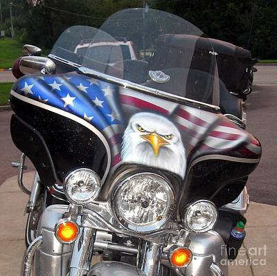 Photograph - Motorcycle And Eagle by Phyllis Kaltenbach