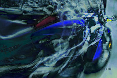 Motorcycle Fantasy Original by ARTography by Pamela Smale Williams
