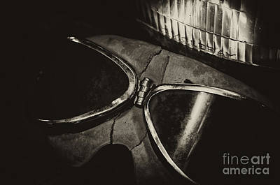 Photograph - Motorcycle Goggles by Wilma  Birdwell