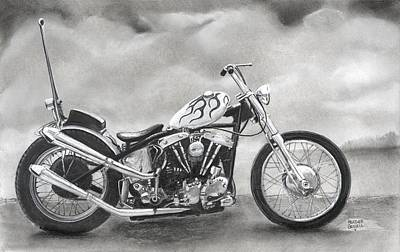 Motorcycle Art Print by Heather Gessell