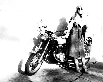 Photograph - Motorcycle Mama by Robert  Rodvik