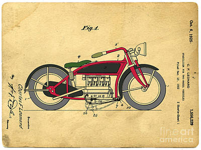Katharine Hepburn - Motorcycle Patent by Edward Fielding