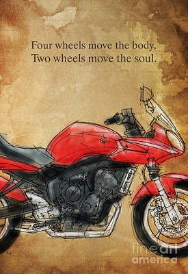 Motorcycle Quote Art Print