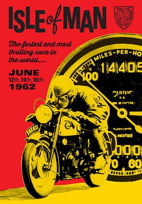 Digital Art - Motorcycle Race by Gary Grayson