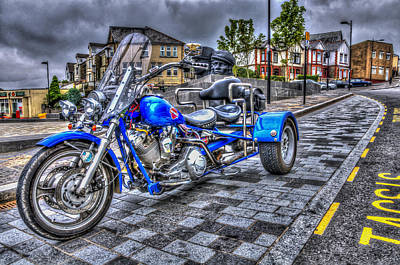 Motorcycle Rally 1 Art Print by Steve Purnell