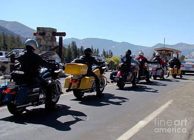 Photograph - Motorcycle Row by Eva Kato