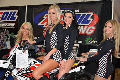 Photograph - Motorcycle Show Girls by Lawrence Christopher