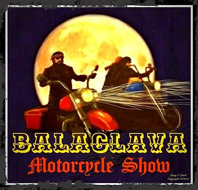 Designer Clothes Painting - Motorcycle Show Poster by Larry Lamb
