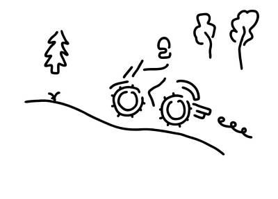 Rocker Drawing - Motorcycle Sport Offroad Moto Cross by Lineamentum