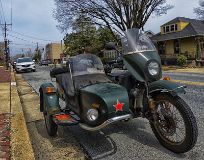 Bellefonte Wall Art - Photograph - Motorcycle With Sidecar by Lois Johnson