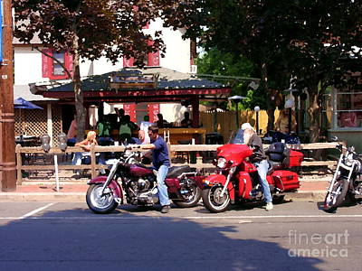 Photograph - Motorcycle Stop by Jacqueline M Lewis