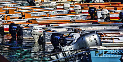 Photograph - Motors And Boats In Catalina By Diana Sainz by Diana Raquel Sainz