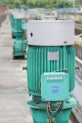 Sewage Photograph - Motors At A Sewage Plant by Ashley Cooper