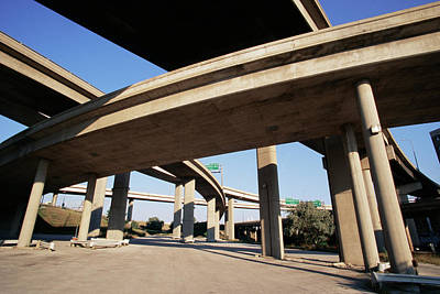 Marquette Wall Art - Photograph - Motorway Flyovers by David Hay Jones/science Photo Library