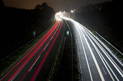 Photograph - Motorway by Ian Cocklin