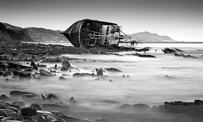 Shipwreck Wall Art - Photograph - Motxo by Martin Zalba
