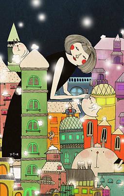 Mouldy City Art Print by Yoyo Zhao