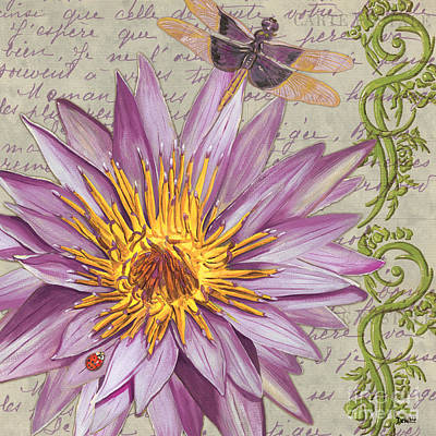 Dragonfly Painting - Moulin Floral 1 by Debbie DeWitt