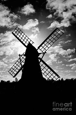Moulin Noir- Monochrome Art Print