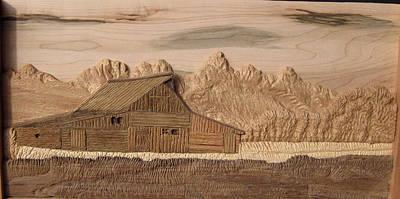 Teton Digital Art - Moulton Barn by Francis Koerber