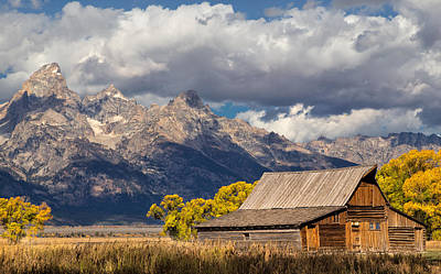 Photograph - Moulton Barn In The Tetons by Kathleen Bishop