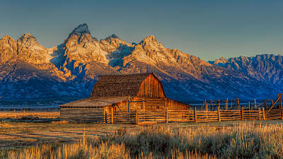 Photograph - Moulton Barn Mormon Row Grand Tetons by Brenda Jacobs