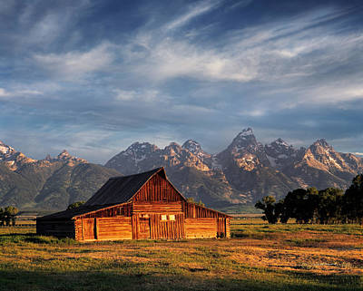 Teton Photograph - Moulton Barn Morning Light by Leland D Howard