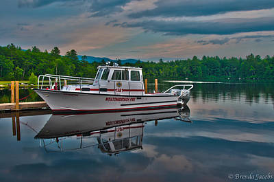 Photograph - Moultonborough Fire Boat by Brenda Jacobs
