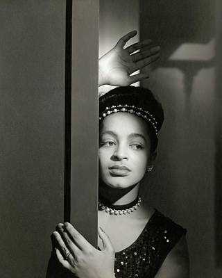 Moune Posing By A Wall Art Print by Horst P. Horst