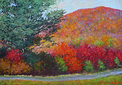 Moungtains In September Art Print by Julia Lesnichy