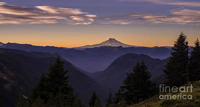 Photograph - Mount Adams Morning Layers by Mike Reid