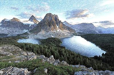 Mount Assiniboine In Pencil Art Print