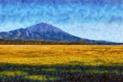 Digital Art - Mount Bachelor by Kaylee Mason