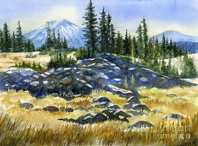 Volcano Painting - Mount Bachelor View by Sharon Freeman