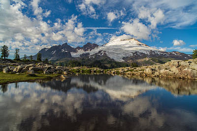 Photograph - Mount Baker Cloudscape by Mike Reid