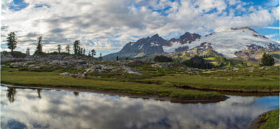 Photograph - Mount Baker Curves Tarn by Mike Reid