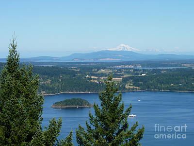 Western Art - Mount Baker from Vancouver Island by Lena Photo Art